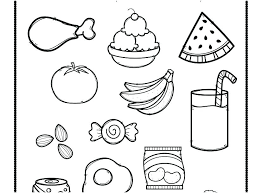 Healthy Foods Coloring Sheets Food Chain Coloring Pages Food