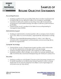 Objective In Resume For Computer Science General Objectives For A Resumes Objective For Resume Entry Level 61