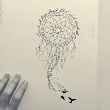 Dream Catcher With Birds Enchanting Dream Catcher Tattoo Drawing At GetDrawings Free For Personal