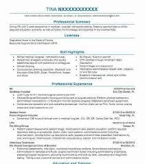 Graduate Nurse Resume New Grad Nursing Clinical Experience Sample