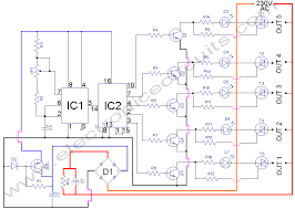 5 way ac flasher circuit diagram electronic circuits 5 way ac flasher 230v circuit