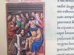 La lavanda dei piedi nel Codice Valois