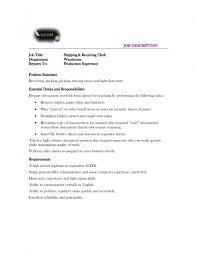 Shipping And Receiving Resume Shipping Receiving Clerk Resume Therpgmovie 73