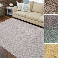 leopard print area rug hand tufted jungle animal print wool area rug 8x27 x 11 leopard leopard print area rug