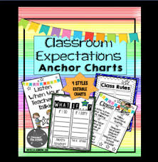 Classroom Expectations Anchor Charts And Posters