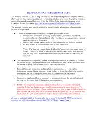 Purpose Of Descriptive Research Design Ucsf Descriptive Study Protocol Template