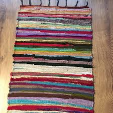 small multi coloured rag rug