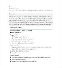 Resume Format For Content Writer Fresher Cover Letter And