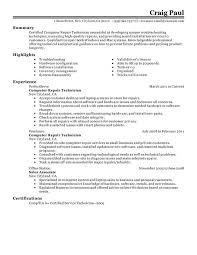 Network Technician Sample Resume 13 Examples Craig Paul Summary