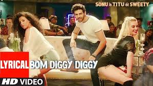Bom Diggy Diggy Lyrical Video Zack Knight Jasmin Walia Sonu Awesome Dam Degge Hndi Sung