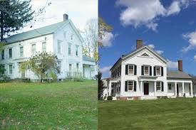 old farmhouse renovation before and after siudynet antebellum home