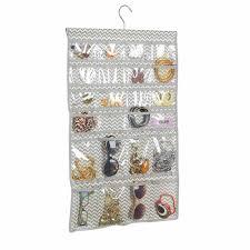 Jewelry Wall Organizer Interdesign Chevron Fabric Hanging Fashion Jewelry Organizer For