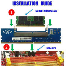 which early dimm form factor applied to laptops ddr4 laptop so dimm to desktop dimm memory ram connector adapter