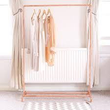free standing clothes rack. Diy Free Standing Clothes Rack Awesome Copper Pipe Clothing Rail Garment Storage