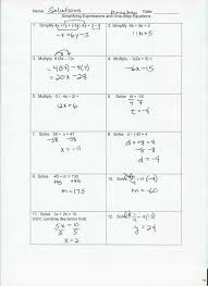 integer operations web powerpoint simplifying expressions and one step equations quiz solutions