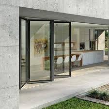 sliding and stacking patio door folding aluminum triple glazed sl82