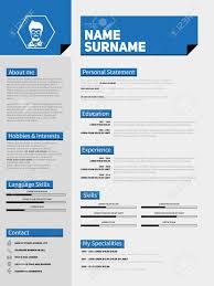 mini st cv resume template simple design royalty mini st cv resume template simple design stock vector 46955818