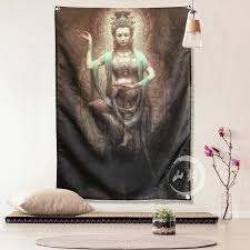 Shop from wide range of wall decor item like mirror, metal wall art more for bedroom office decor products at kraphy. Customized India Thousand Hands Buddha Statue Female Tattoo Tattoo Shop Bar Studio Wall Decoration Wall Cloth Background Cloth