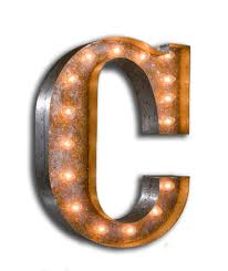 Small Picture Vintage Marquee Light Letter C Vintage Marquee Lights