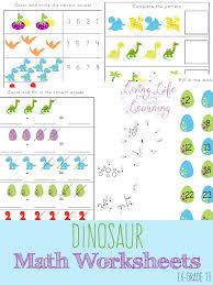Free Dinosaur Kindergarten Math Worksheets - Money Saving Mom®