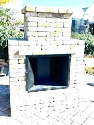 prefab outdoor fireplace kit ricated modular canada