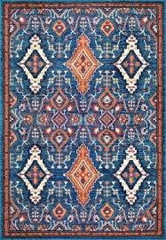 blue and orange rug diamond multi area grey
