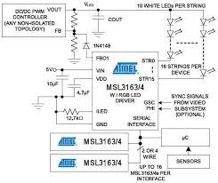 led drivers microchip mouser microchip msl316x application circuit diagram