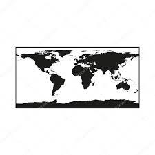 白背景に黒は政治的な世界地図イラスト白黒 ストックベクター Agesxe
