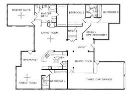 Modern Floor Plan Of A One Story House Inspiring To Design Decorating