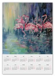 """Календарь А2 """"Розовый <b>фламинго</b>"""" #2320232 от rikart - <b>Printio</b>"""