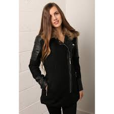 luxe wool coat with faux leather sleeves p84 231 image jpg