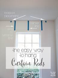 Sweet Looking Mounting Curtain Rods Hanging Up How To Hang Curtains And