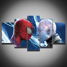 spiderman wall art unframed 5 sets the cool spiderman painting canvas wall art