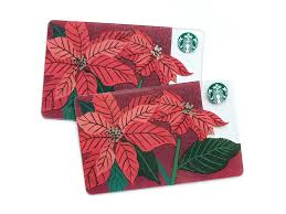 starbucks holiday poinsettia gift card