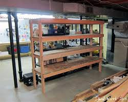 basement shelf storage organize how to make wood shelf build