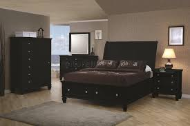 Black Finish Transitional Bedroom WStorage Bed  Options - Transitional bedroom