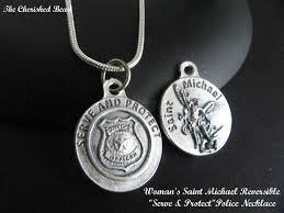 59 st michael necklace pendant zeckos archangel two tone