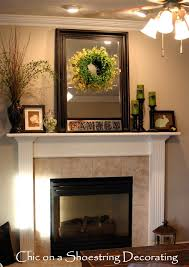 decorating a fireplace mantel | Easter Spring Mantle Mantel ...