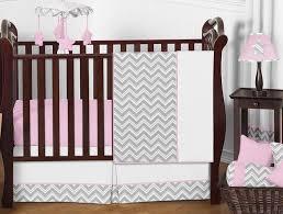pink and gray chevron zig zag baby bedding 11pc crib set by sweet jojo designs only 62 99