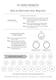Ring Size Chart Elverd Designs