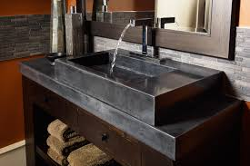 black polished concrete countertops