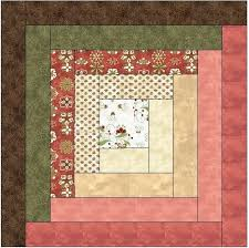 Log Cabin Quilt Patterns Impressive Traditional Log Cabin Quilt Block Pattern Download The Feverish