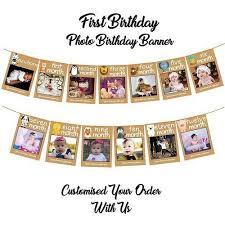 1st birthday banner decut 1st birthday decorations monthly milestone birthday photo