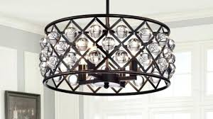 bronze drum chandelier 4 light crystal drum chandelier ceiling fixture oil rubbed bronze within drum chandelier