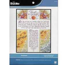 Bucilla Counted Cross Stitch Picture Kits Footprints