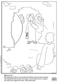 Pasen De Steen Is Weg Bijbelse Kleurplaten Pasen Kleurplaten En