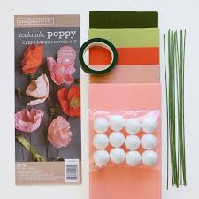 Paper Flower Kit Crepe Paper Icelandic Poppy Flower Kit Shop Lia Griffith