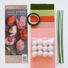 Crepe Paper Flower Balls Crepe Paper Icelandic Poppy Flower Kit Shop Lia Griffith
