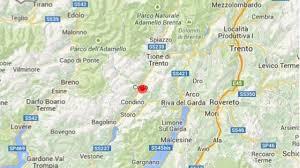 Trentino : lieve scossa di terremoto registrata oggi fra Creto, Condino,  Storo, Roncone, Riva del Garda, Bagolino