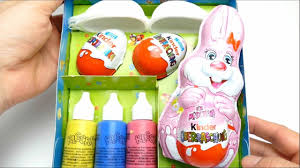 easter egg diy painting set with kinder surprise eggs